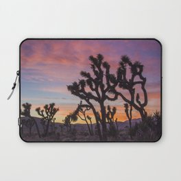 Colorful Sunset in Joshua Tree National Park Laptop Sleeve