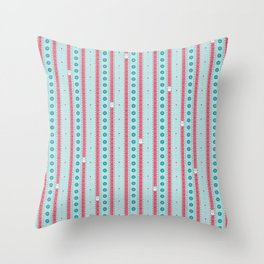 SewingStripes Throw Pillow