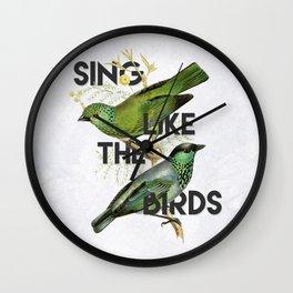 Sing Wall Clock