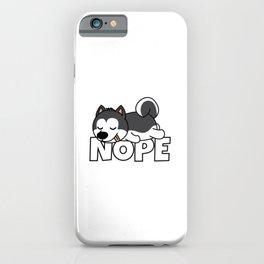 Nope Husky iPhone Case