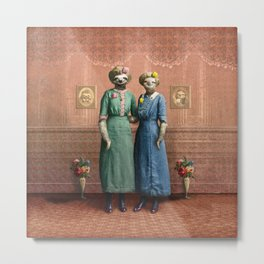 The Sloth Sisters at Home Metal Print
