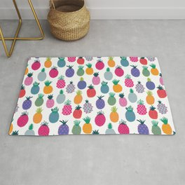 Doodle Pineapples Rug