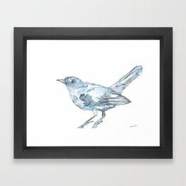 Nightingale Watercolor Sketch Framed Art Print