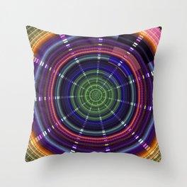 Dynamic mandala with tribal patetrns Throw Pillow