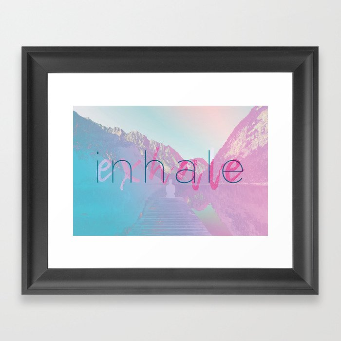 Inhale / Exhale Framed Art Print