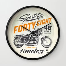 Forty Eight Wall Clock