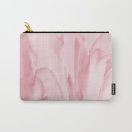 Precious Pink Folds of a Flower Carry-All Pouch