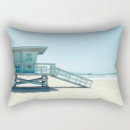 Hermosa Beach Lifeguard Tower 19 Rectangular Pillow