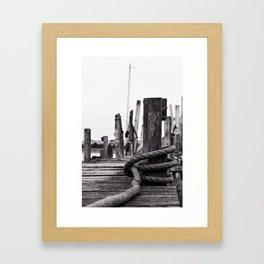 Mooring Hitch Framed Art Print
