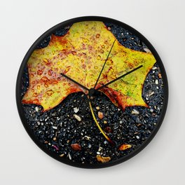 Autumn Leaf Wall Clock
