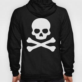 White Skull & Crossbones Hoody