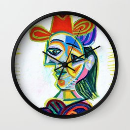 12,000pixel-500dpi - Pablo Picasso - Female bust, Dora Maar - Digital Remastered Edition Wall Clock