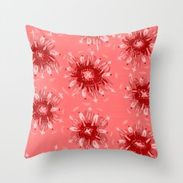Red Christie Rose Throw Pillow