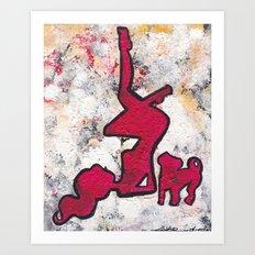 Pinup and Pup Art Print
