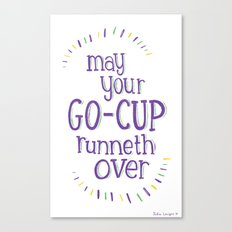 Go-Cup (type only) Canvas Print