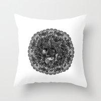 perfume Throw Pillows featuring Perfume by Sircasm