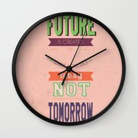 word Wall Clocks featuring WORD by Anthony Morell