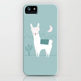 Alpaca In The Mountains iPhone Case