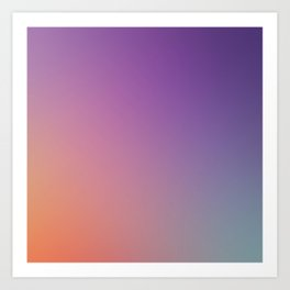 GUILTY  CONSCIENCE - Minimal Plain Soft Mood Color Blend Prints Art Print