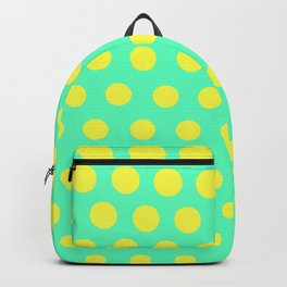 Green and yellow pattern Backpack