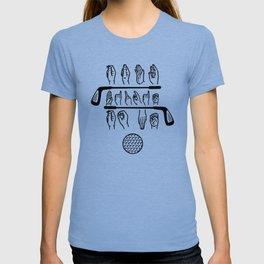 Sign Language Talk Birdie To Me - Funny Golf Golfer Gift T-shirt