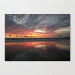 """HERE AND BELOW"" kitesurf . kite . surf Canvas Print"