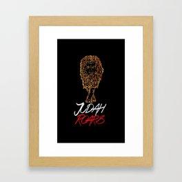 Judah Roars Logo Framed Art Print