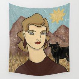 Taurus by Amanda Laurel Atkins Wall Tapestry