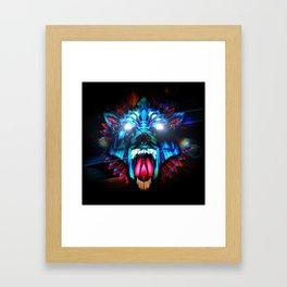Wolf retro Futurism Framed Art Print
