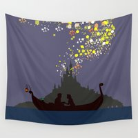 tangled Wall Tapestries featuring Tangled by TheWonderlander