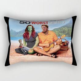 50 WORST Dates - Avenger End Game Parody Design (50 first dates) Rectangular Pillow