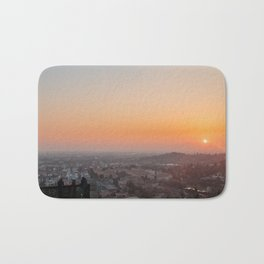 colorful sunset in Bergamo Bath Mat