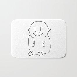 Blobby Lemon Dude Bath Mat