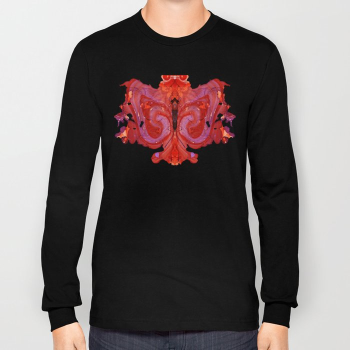Abstract #1: The Fire Owl Long Sleeve T-shirt