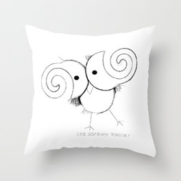 The Screwy Hooter Throw Pillow