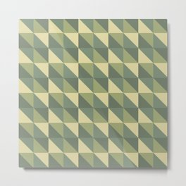 Geometric camouflage pattern with triangle tiles Metal Print