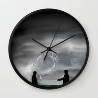 johnlock Wall Clocks featuring To the very best of times by Dullish
