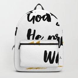 Isaiah 58:11 Christian Bible Verse Backpack