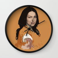 alex vause Wall Clocks featuring Vause Ass Bitch. by Fashionable