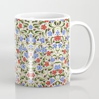 medieval Mugs featuring Medieval Floral by Diana Kryski