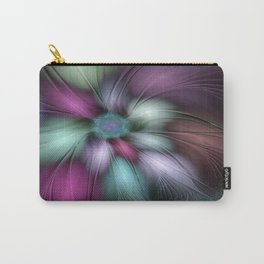 Soft And Colorful, Abstract Fractal Art Carry-All Pouch