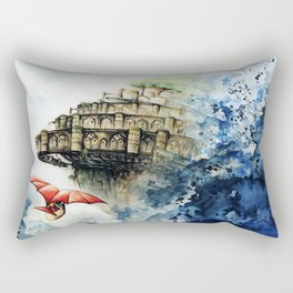 """The castle in the sky"" Rectangular Pillow"