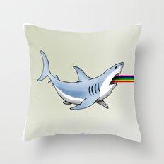 Rainbow Shark Throw Pillow