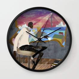 Coffee, Books and Thoughts Wall Clock