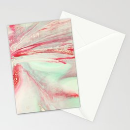 Pink orchid close up Stationery Cards