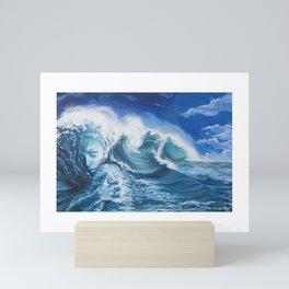 Her Veins Pulse Saltwater Mini Art Print