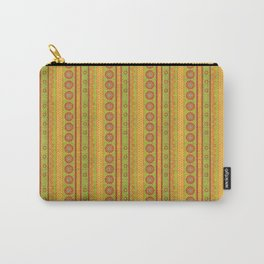 Tapestry line and flower orange green Carry-All Pouch