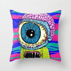 Morty Monster Throw Pillow