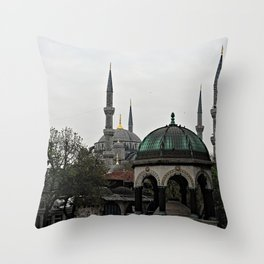 Blue Mosque Kiosk Monument, Istanbul Turkey Throw Pillow