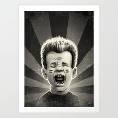 Noise Black Art Print